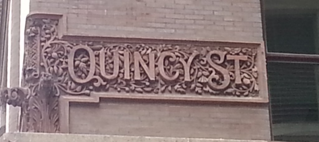 Street name detail on the Rookery building.